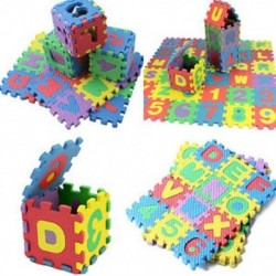 Ábécé és számok Baby Kid Play Mat oktatási játék puha hab matt játékok 36db