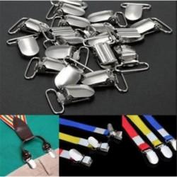 10db fém tartó behelyezése cumi ezüst tónusú függesztőkapcsok kesztyű Új