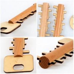 Fából készült Puzzle Intelligence fejlesztés Toy Unlock kulcsfontosságú oktatási eszköz játékok