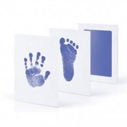 Világoskék - Világoskék Újszülött Handprint Lábnyom Impresszum Tiszta Touch Ink Pad Photo Frame Kit JP