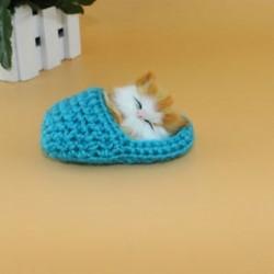 Kék - Kék Hot Lifelike Kid Toys aranyos plüss macska lágy baba Lifelike szimulációs hang játékok