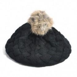 Fekete - Fekete Aranyos baba gyerekek lányok kisgyermek téli meleg kötött horgolt beret sapka sapka kalap