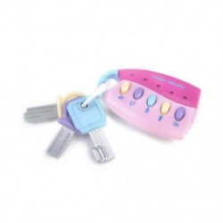 Rózsaszín - Rózsaszín Baba Kid zenei intelligens távirányító autó kulcsjáték autóhangok Pretend játék oktatási