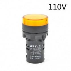 Sárga-110v 22 mm-es LED-es jelzőfény Pilótafény jelzőlámpa panel Piros zöld Kék Sárga fehér