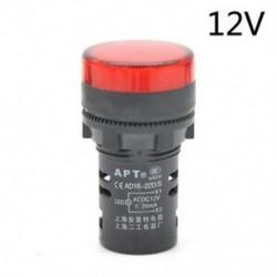 Piros-12V 22 mm-es LED-es jelzőfény Pilótafény jelzőlámpa panel Piros zöld Kék Sárga fehér