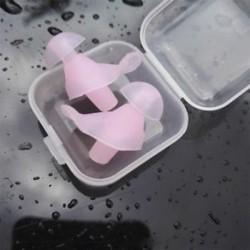 * 1 Pink Puha szilikon elleni zajhabos fül füldugó az úszás alvó munkapadhoz Újrafelhasználható Comfy