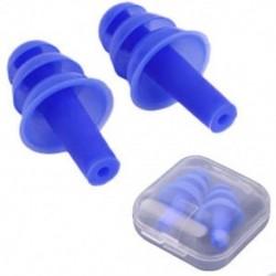 * 2 Kék Puha szilikon elleni zajhabos fül füldugó az úszás alvó munkapadhoz Újrafelhasználható Comfy