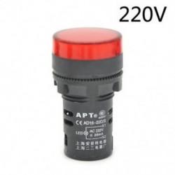 Piros-220v LED-es jelzőfény-jelzőfény-jelzőfény Vörös zöld Kék fehér sárga 22mm