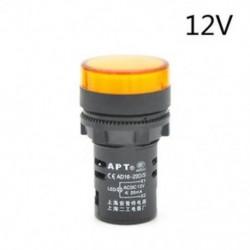 Sárga-12V LED-es jelzőfény-jelzőfény-jelzőfény Vörös zöld Kék fehér sárga 22mm