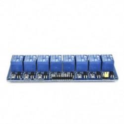 8 CH optocsatolóval (kék) 5V 1/2/4/8 csatorna relé kártya modul Optikai csatlakozó LED az Arduino PiC ARM AVR számára