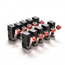Új 10db Micro Roller kar karva nyitott szoros kapcsoló KW12-3 PCB mikrokapcsoló Új 10db Micro Roller kar kar nyitva szoros