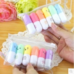 6 x Mini aranyos kiemelő díj kellékek Graffiti író iskola irodai ajándékok 6 x Mini aranyos kiemelő toll kellékek
