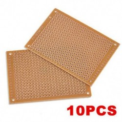 10PCS 5x7cm DIY prototípus papír PCB univerzális kísérlet mátrix áramkör 10PCS 5x7cm DIY prototípus papír PCB