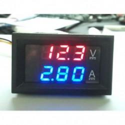 Piros   kék 100V 10A feszültségmérő mérőműszer, kék, piros, LED, DC, kettős, digitális feszültségmérő