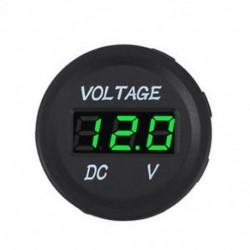 Zöld 12V 24V tengeri autós motorkerékpár LED digitális feszültségmérő feszültségmérő