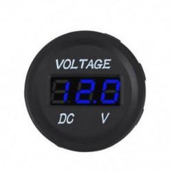 Kék Vízálló 24V autó motorkerékpár LED digitális feszültségmérő feszültségmérő