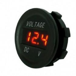 narancs Vízálló 24V autó motorkerékpár LED digitális feszültségmérő feszültségmérő