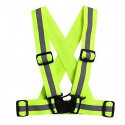 Zöld Fényvisszaverő állítható biztonsági biztonság Nagy láthatóságú mellény fogaskerék Stripes Jacket