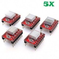 5Pcs A4988 Stepper motorvezérlő modul RepRap 3D-s kivitel Pololu StepStick 5Pcs A4988 Stepper motorvezérlő modul RepRap 3D
