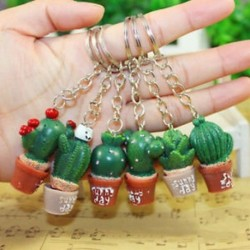 1db Kulcs lánc személyre szabott ajándékszimuláció kaktusz ötletek kulcstartó ajándékok medál dekoráció