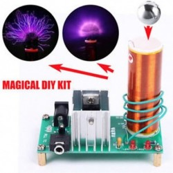 Mini Tesla tekercs Plazma hangszóró Elektronikus transzformátoros zene 15W DIY készlet Mini Tesla tekercs Plazma