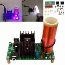 DC 15-24V 2A Mini Tesla tekercs plazma hangszóró Elektromos elektronikus készlet 15W DIY DC 15-24V 2A Mini Tesla tekercs