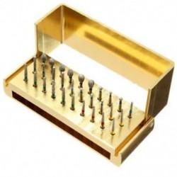 Dental Diamond Burs Drill 30X fertőtlenítő blokk nagy sebességű kézidarabok tartó Dental Diamond Burs Drill 30X