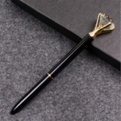 Fekete golyóstoll - Fekete tintával - Köves díszítéssel - Iskolába - Kreatív íráshoz - Díszítéshez - 4