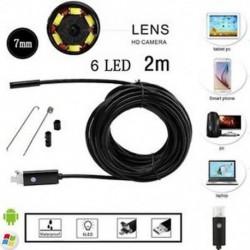 2M 10M Android PC HD endoszkóp vízálló kígyó Borescope USB ellenőrző kamera 7MM