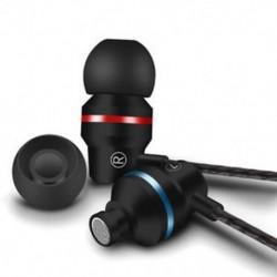 Fekete Fém sztereó fejhallgató basszus fülhallgató sport fejhallgató fülhallgató fülhallgató mikrofonnal