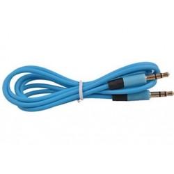 Kék 1PC 3,5 mm-es férfi-férfi audio sztereó Aux-hosszabbító kábel kábel iPhone iPod JP-hez