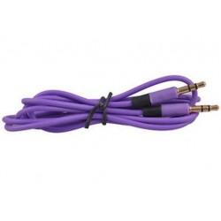 Lila 1PC 3,5 mm-es férfi-férfi audio sztereó Aux-hosszabbító kábel kábel iPhone iPod JP-hez