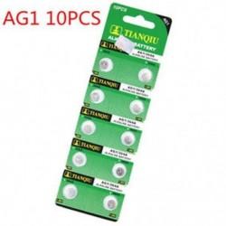 10db AG1 5/10 / 100PCS lúgos érme gomb cellás akkumulátor stabil játékmegőrző távirányítóhoz