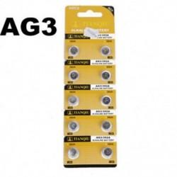 10PCS AG3 LR41 392 SR41 192 1.5V alkáli gomb érme cellák Erős óra akkumulátor