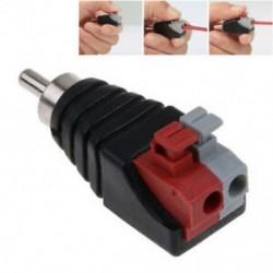 Hangszóró vezetékes A / V kábel a hangsugárzó RCA csatlakozó adapterhez Jack Nyomja meg az 1Pc dugót