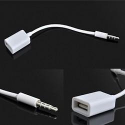 3,5 mm-es férfi AUX audió dugó csatlakozó USB 2.0 női átalakítóhoz Car mp3 adapterkábel