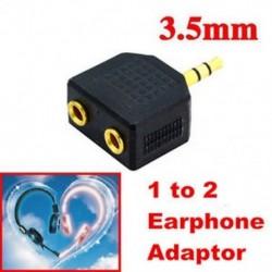 3.5mm 1 - 2 kettős fejhallgató fülhallgató Y Splitter kábel kábel adapter Jack dugó