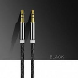 Fekete 1M / 3ft kiváló minőségű AUX kábel 3,5 mm-es férfi és férfi kábel az AUX / MP3 / fejhallgatóhoz