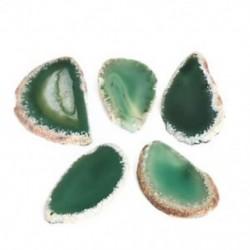 Zöld Új agát polírozott, szabálytalan kristályszelet Brazília Gyógyító Reiki kő medál JP