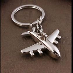 3D szimulációs modell repülőgép sík kulcstartó kulcstartó gyűrű kulcstartó DIY ajándék Új