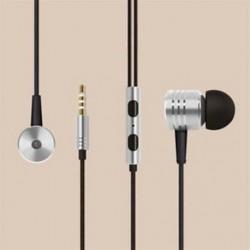 * 3 Ezüst 3,5 mm-es fülhallgató mikrofon basszus sztereó fejhallgató fülhallgatóval