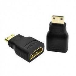 Mini HDMI (C típusú) Férfi - HDMI (A típus) Női adapter csatlakozó 3D TV HDTV-hez
