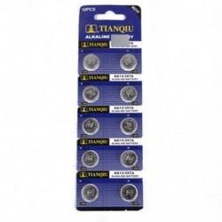 10 x alkáli elemek gombelemek kamerája AG13 LR44 SR44 L1154 357 A76