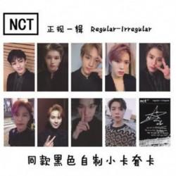 A-10db / szett KPOP NCT 2018 Hivatalos fotókártya fotókártya poszter Lomo kártyák tagjai Új