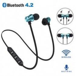 Kék Bluetooth 4.2 sztereó fülhallgató fülhallgató vezeték nélküli fülhallgató mágneses fejhallgató