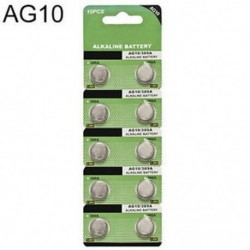 Tételek 10db AG10 LR1130 389 LR54 L1131 189 Gombcellás érme akkumulátor