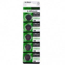 5db CR2016 3V-os akkumulátorok CR 2016 DL2016 ECR2016 3V-os gombérméscsomag akkumulátor