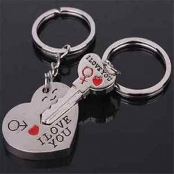 Szerelem ajándék szív kulcs kulcstartó készlet kulcstartó gyűrű szerető Valentin nap ajándék 1 pár
