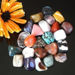 2PCS Crystal Mix bukott kövek polírozott sziklák csakra természetes kő Xmas ajándék