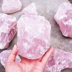 Természetes rózsaszín kvarc kristály kő kő ásványi minták gyógyulása 1Pc
